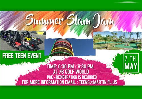Martin County Parks & Rec 2021 Summer Slam Jam