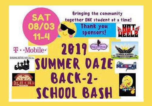 2019 Summer Daze Back to School Bash