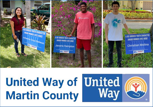United Way of Martin County 2019/2020 Youth Character Award Winners