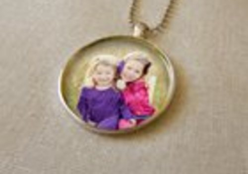 circle photo pendant necklace mother's day Dan's Camera city 20 percent off sale thru May 1 Easton, PA