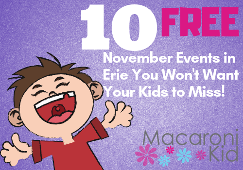 10 free november events in erie for kids
