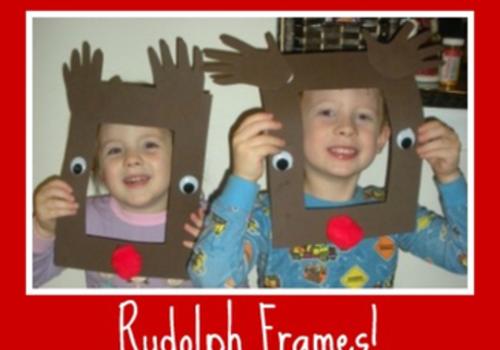 Rudolph Frames kids can make