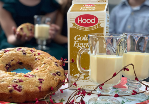 Enjoying the holidays at home with Hood Golden Eggnog