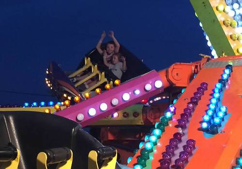 Kids on ride at Canfield Fair