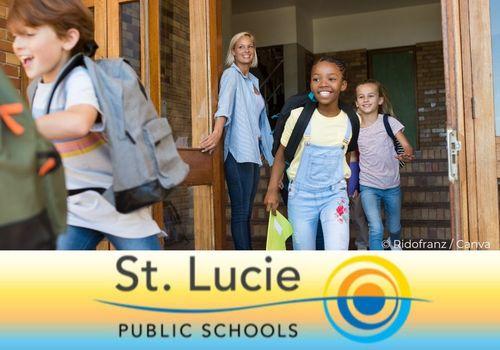 Happy School Children leaving school