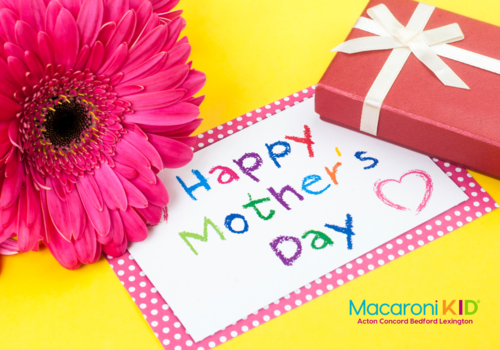 Mothers Day card gift and flower