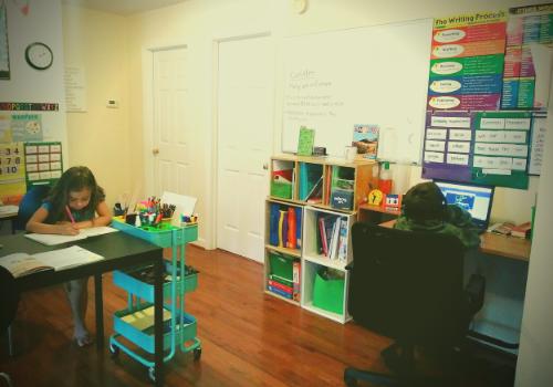 at home schooling organization ideas