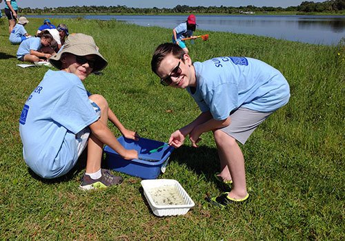 Students Dip Netting at the Oxbow