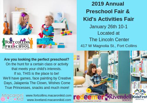 Macaroni Kid Fort Collins Preschool & Kid's activities fair