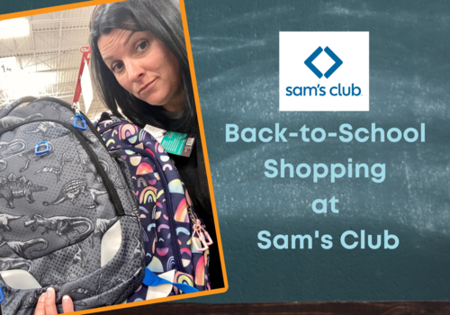 Back to School Shopping at Sam's Club