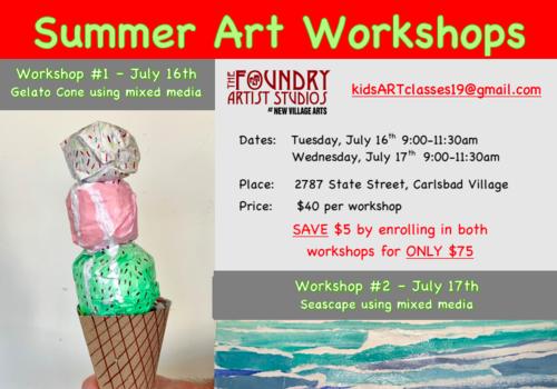 Art For Kids Summer Art Workshops