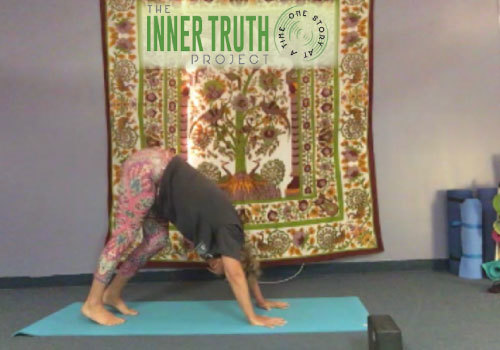 Inner Truth Project - Deb Pizzimenti leading the weekly yoga class online