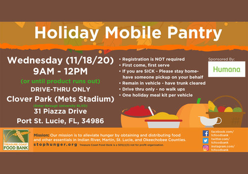 Treasure Coast Food Bank & City of PSL Holiday Mobile Food  Pantry