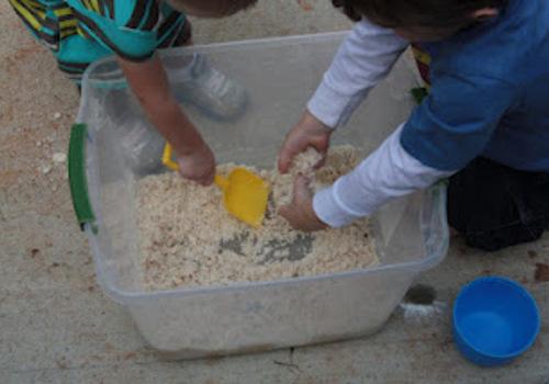 Moon Dough helping kids have fun