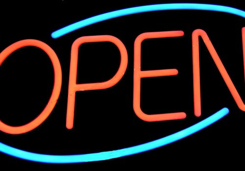 open, small business