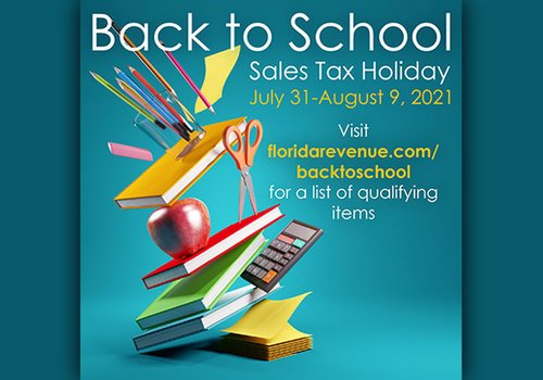 2021 Florida Back To School Sales Tax Holiday