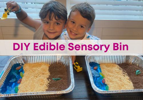 Emily Papa DIY edible sensory bin with jello