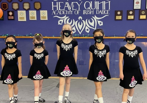 Irish dancers from Heavey Quinn Academy