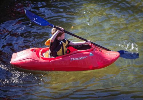 kid kayaking