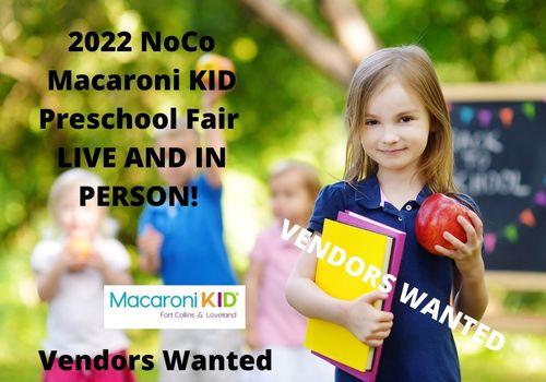 2022 Vendor Preschool Fair