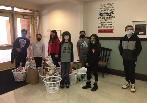 Whitman-Hanson's Duval Elementary School Donates 500 Pounds of Food to Whitman Food Pantry As Part of Annual Drive