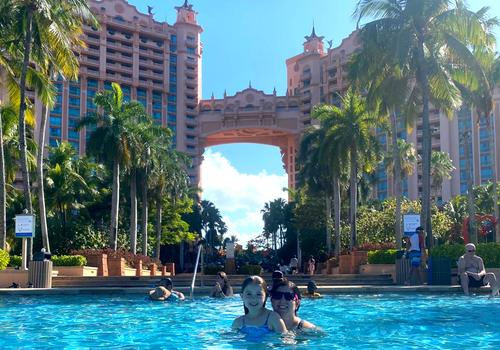 Amy Flynn and daughter at Atlantis Bahamas