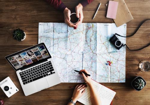 Pack + Go travel agency Keeps your trip destination a secret