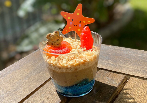 DELIGHTED BY Desserts Hummus Spread Craft a Snack Beach in a cup kids