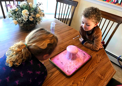 homemade volcano experiment