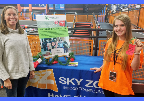 Sky Zone Hoover partners with Grace Klein Community to collect