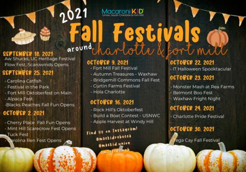 Fall Festivals Around Charlotte and Fort Mill