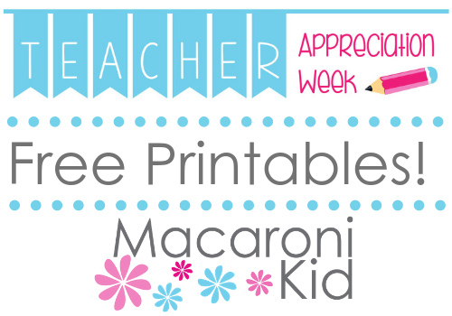 Free printable for teacher appreciation week