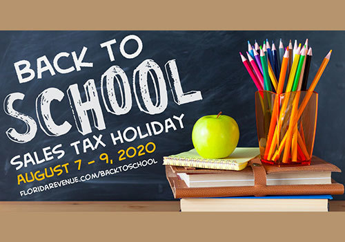 2020 Back To School Sales Tax Holiday