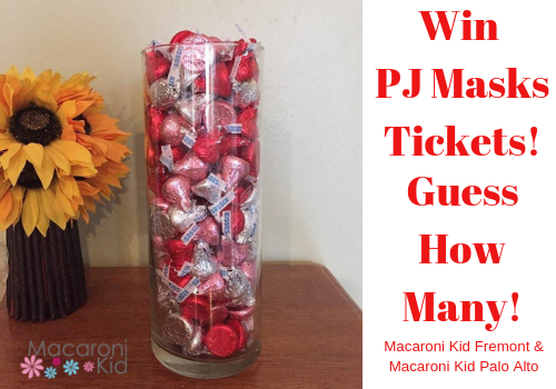 Guess How Many Kisses in Jar for PJ Masks Tickets