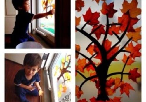 Fall tree suncatcher craft for kids