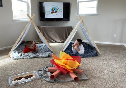 DIY campout at home