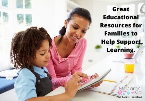 Great Educational Resources for Families to Help Support learning