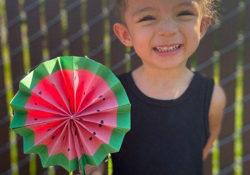 Watermelon Paper Fan