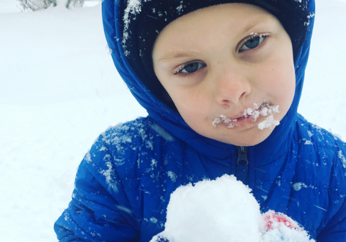 Boy in the snow