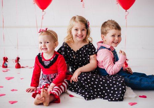 Valentines day kids photo shoot