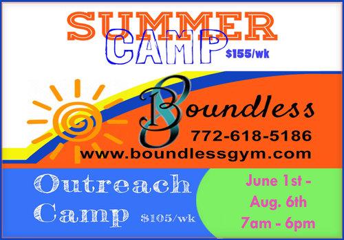 Boundless Gymnastics 2021 Summer Camp