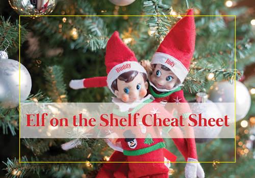 Elf on the Shelf Cheat Sheet Chestermere