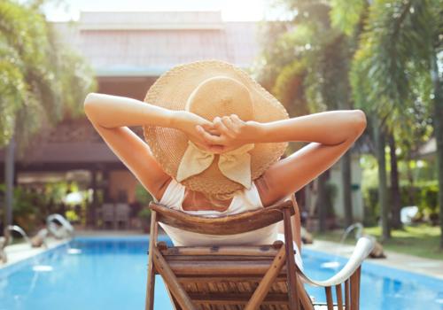 relaxing sun tan