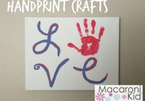 Love handprint craft