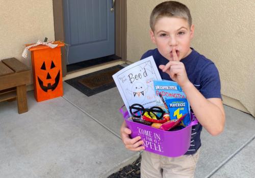 Boo baskets Halloween fun
