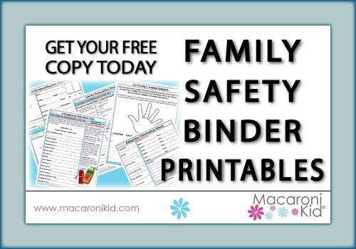 Family Safety Binder Printables