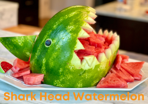 Shark Head carved out of a Watermelon