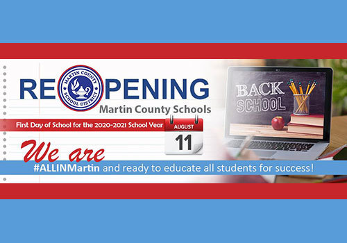Martin County School District 2020 Back To School Banner