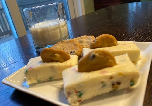 cookies in milk fudge