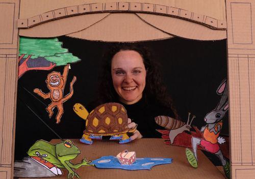 Birmingham Children's Theatre (BCT) present cardboard puppet theatre shows online for kids and families